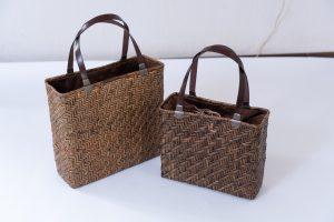 アジロ編みバッグ